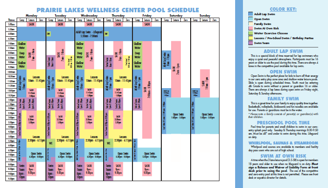 full summer 2019 pool schedule