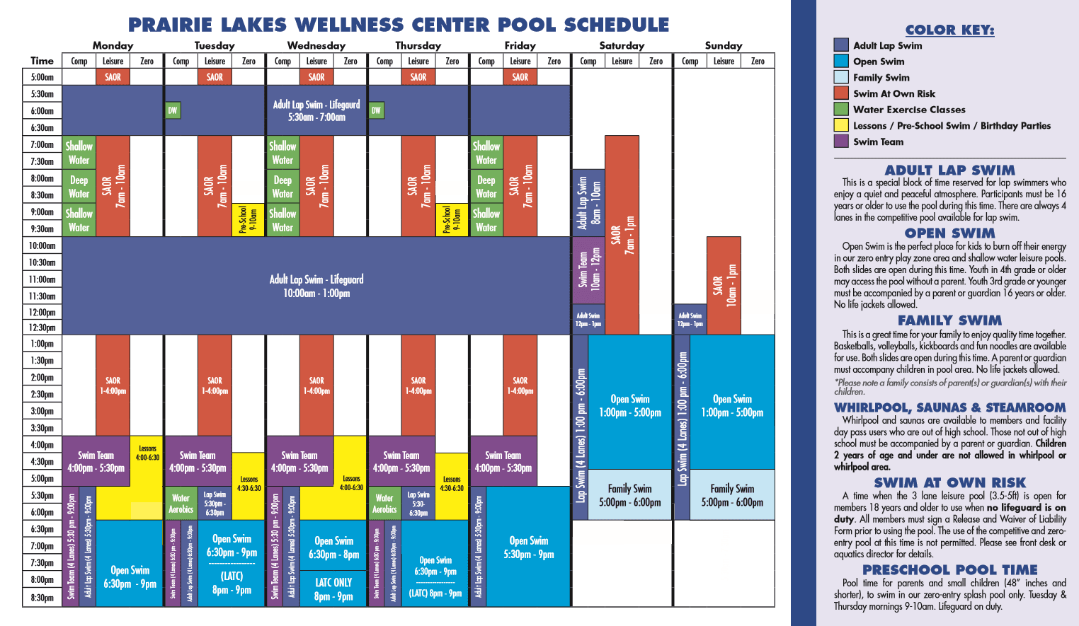 new pool schedule